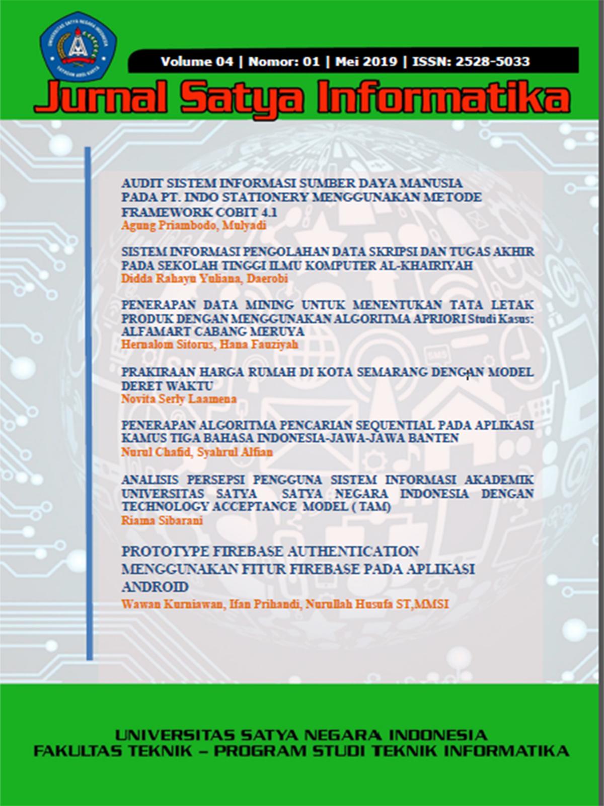 Jurnal Jurnal Satya Informatika